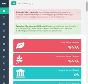 Hakem Yönetim Sistemi Ana Sayfa Tanıtım - Mobil